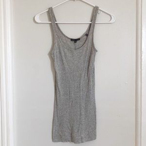vince | heather grey ribbed tank